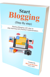 Start Blogging course