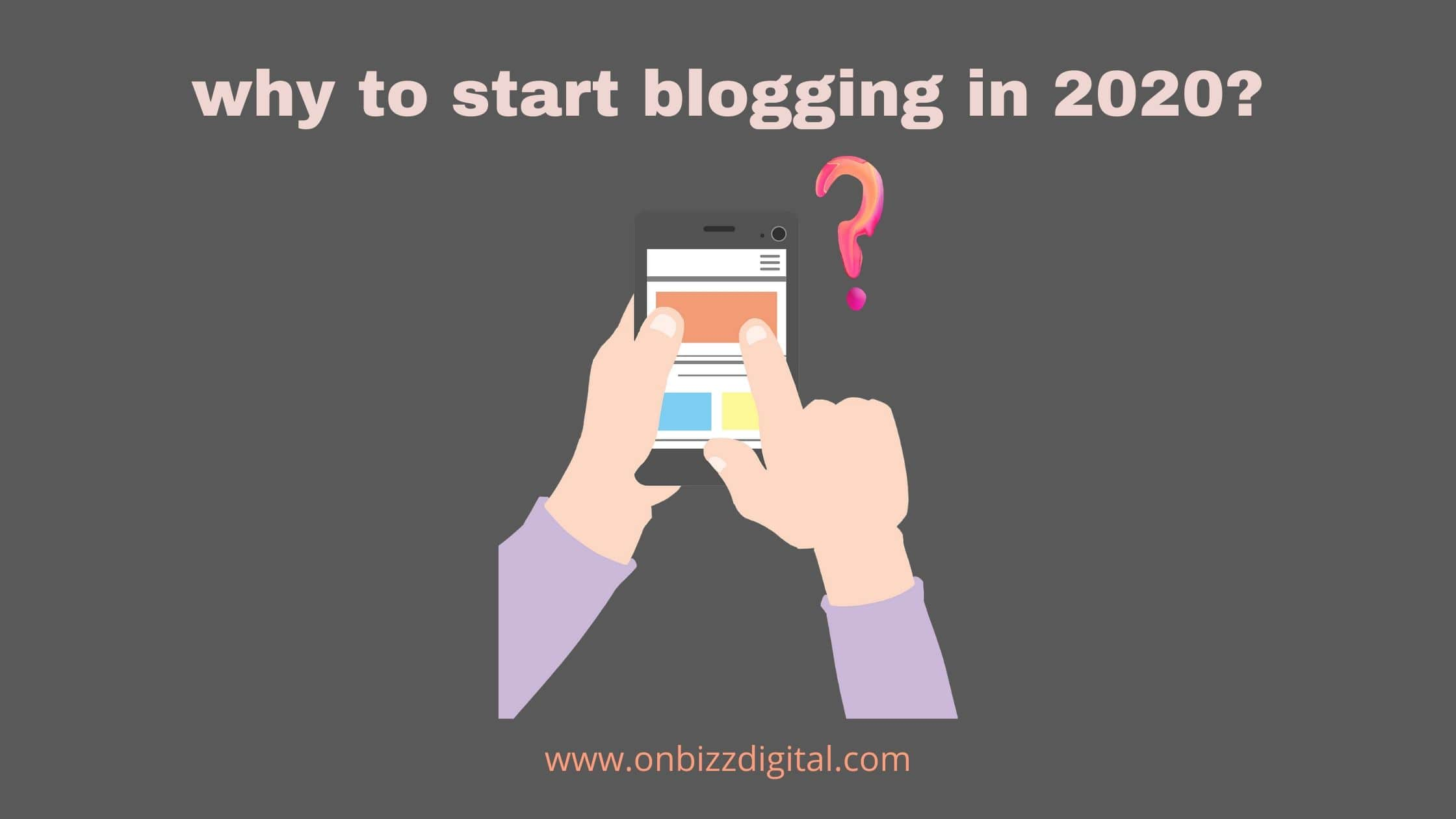 why to start blogging