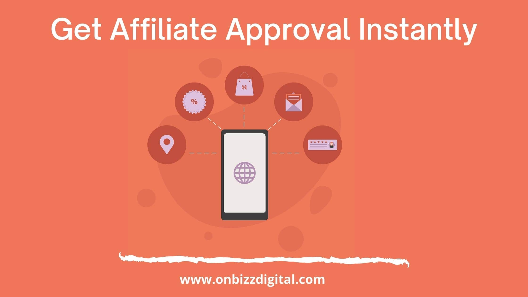 Get approval of affiliate program
